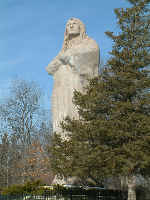 Black Hawk Statue, or The Eternal Indian, is a sculpture by Lorado Taft located in Lowden State Park which is near the city of Oregon, Illinois.